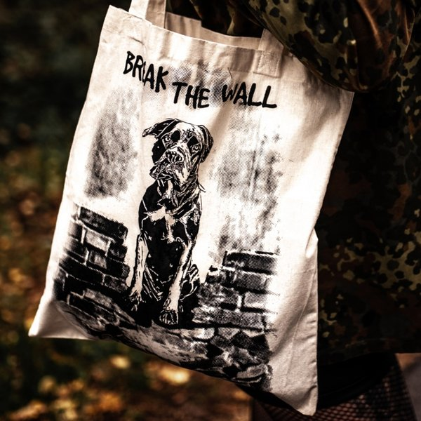 "Jutebeutel ""BREAK THE WALL - Cane Corso"" - beige"